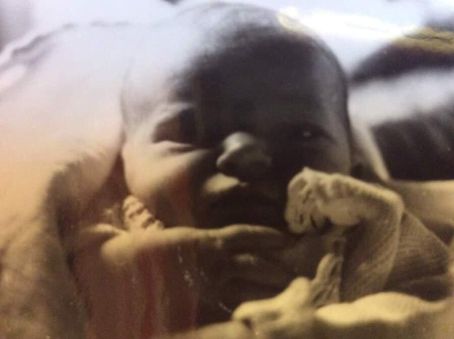 Myrthe als Baby