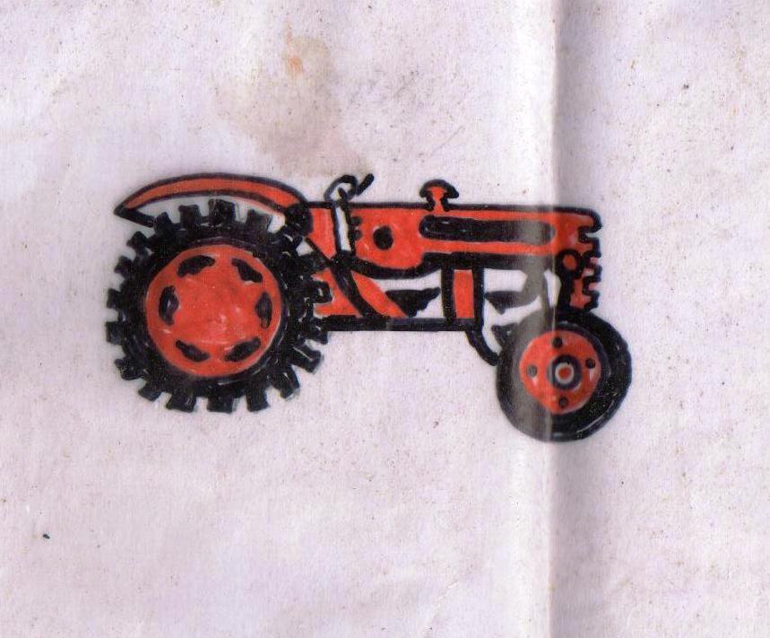 Skizze für Print Red Traktor